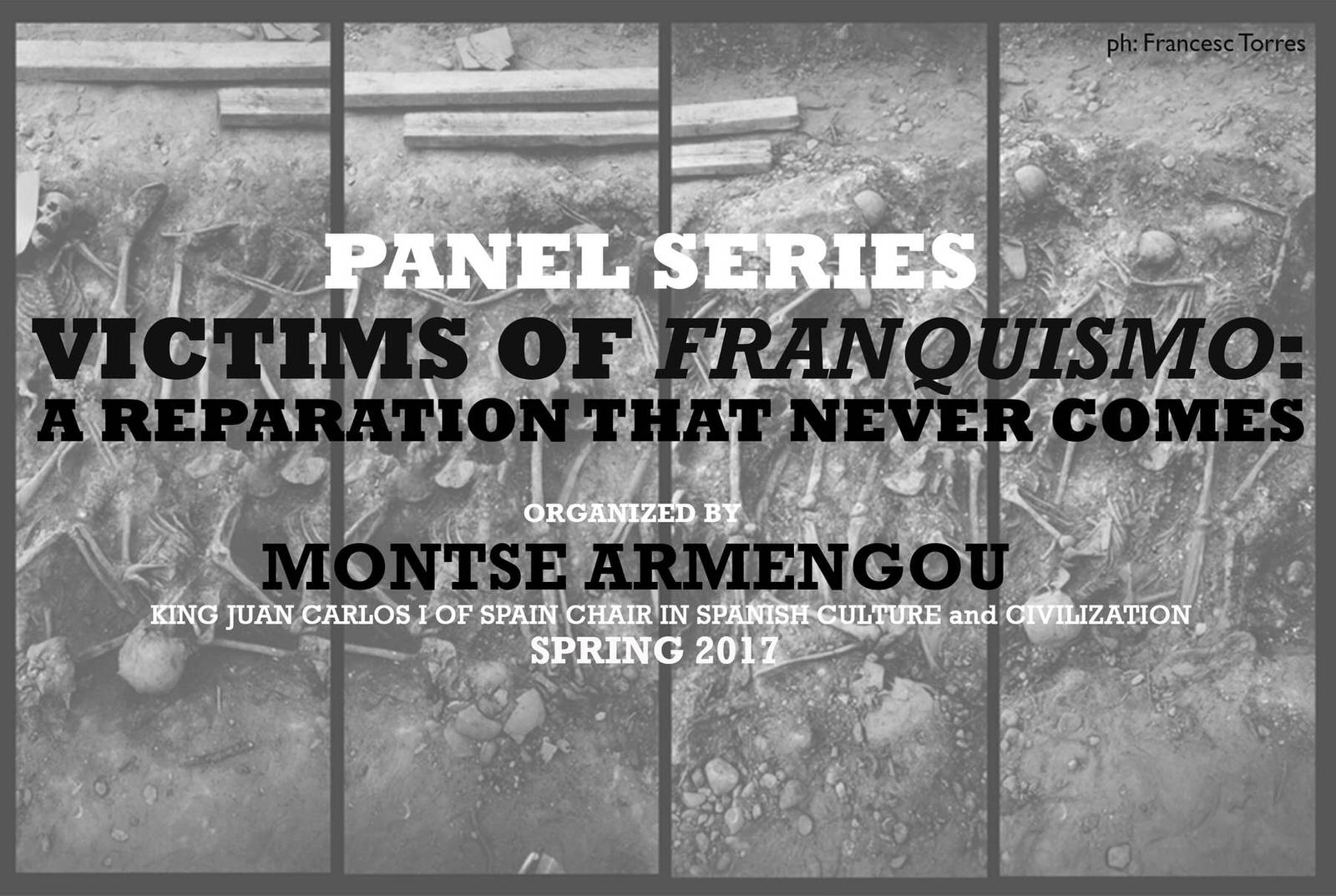 image from TUESDAY, MAY 2nd, 6:30pm | Panel 4 - Victims of Franquismo: A Reparation that Never Comes