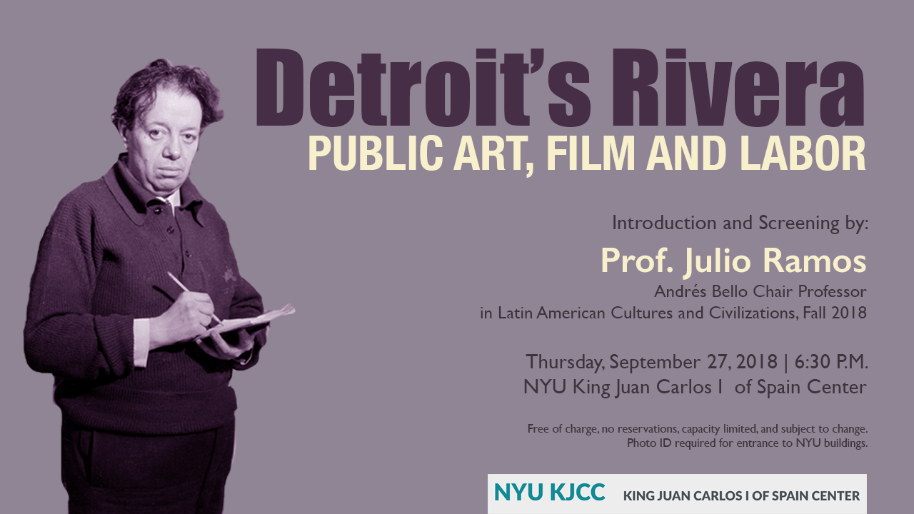 image from VIDEO / Detroit's Rivera: Public Art, Film and Labor by Andrés Bello Chair Julio Ramos