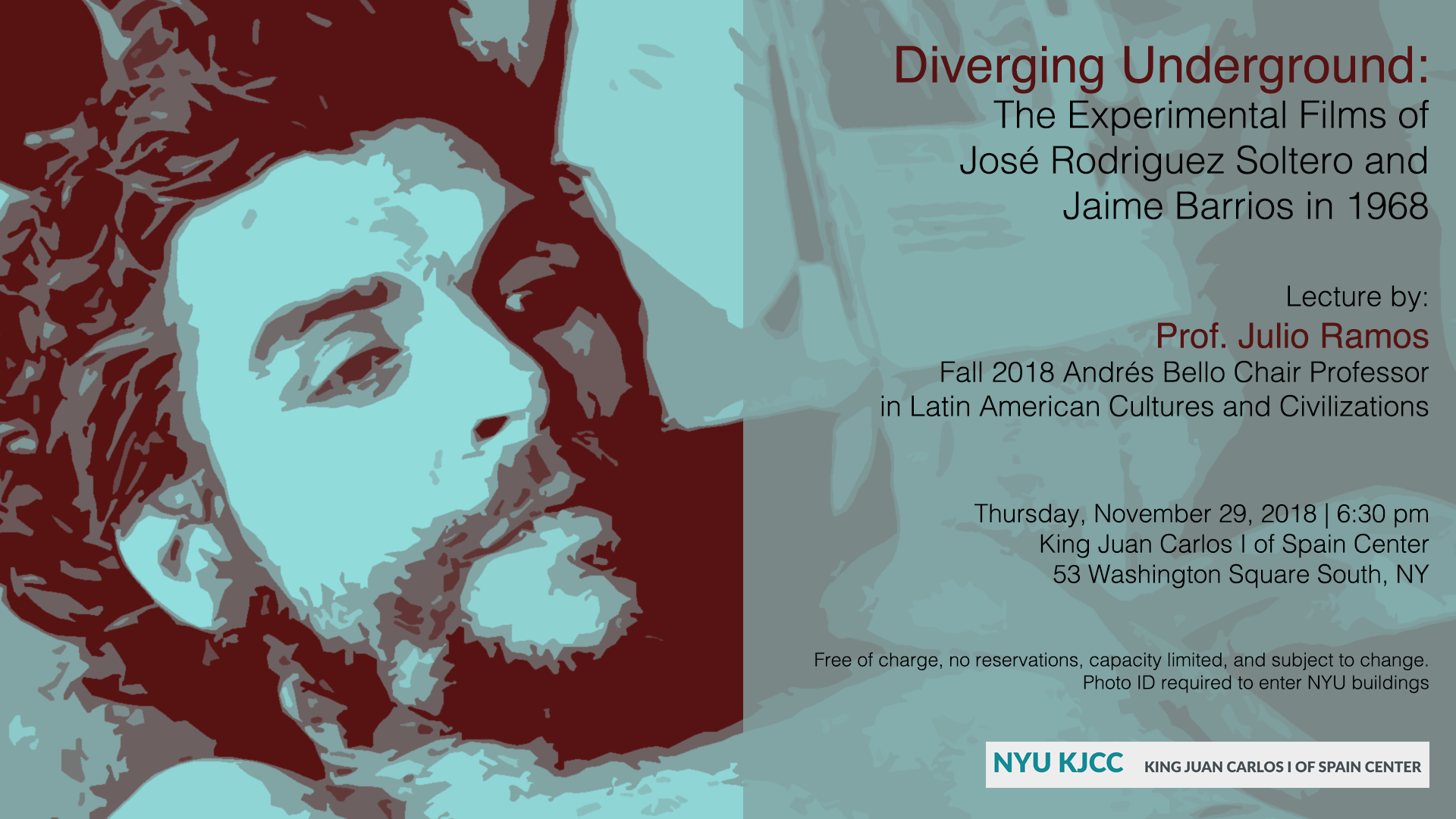 Image from Lecture |  Andrés Bello Chair Julio Ramos Second Public Lecture: Diverging Underground: The Experimental Films of José Rodríguez Soltero and Jaime Barrios in 1968